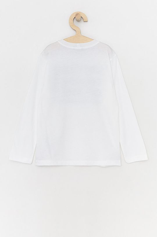 United Colors of Benetton - Detské tričko s dlhým rukávom biela