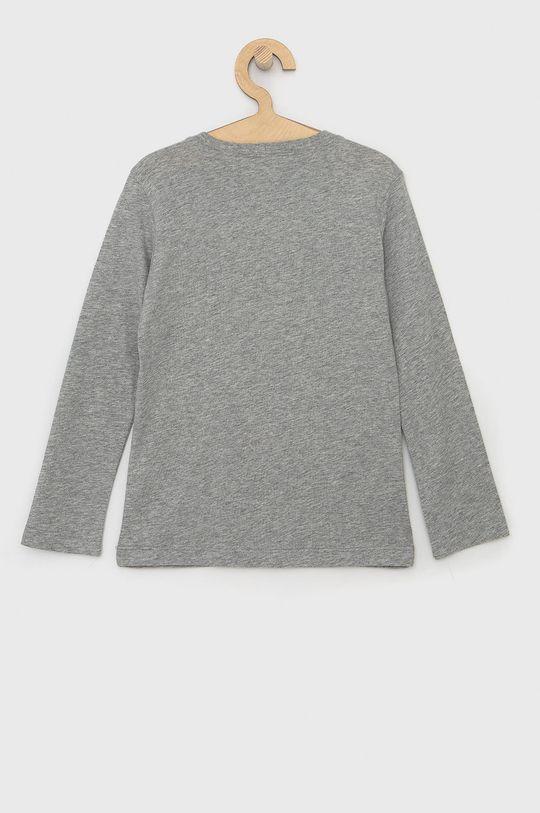 United Colors of Benetton - Dětské tričko s dlouhým rukávem světle šedá