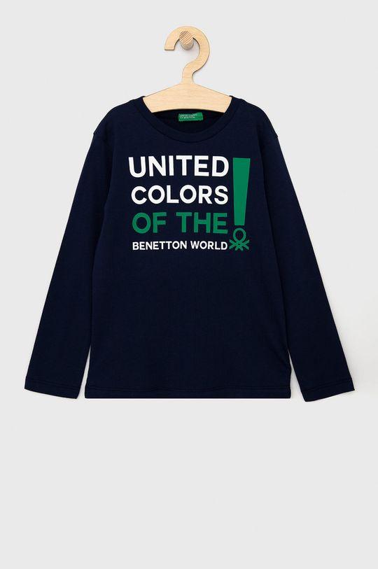 granatowy United Colors of Benetton - Longsleeve dziecięcy Chłopięcy