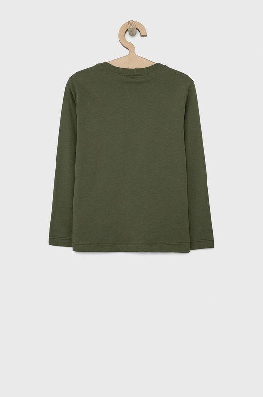 United Colors of Benetton - Dětské tričko s dlouhým rukávem tlumená zelená