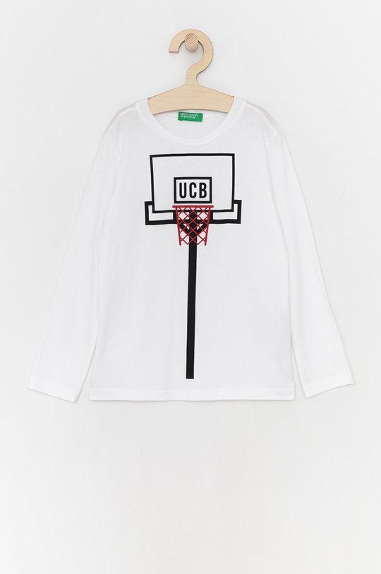 bílá United Colors of Benetton - Dětské tričko s dlouhým rukávem Chlapecký