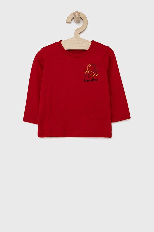 červená United Colors of Benetton - Dětské tričko s dlouhým rukávem Chlapecký