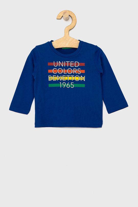 fialová United Colors of Benetton - Dětské tričko s dlouhým rukávem Chlapecký
