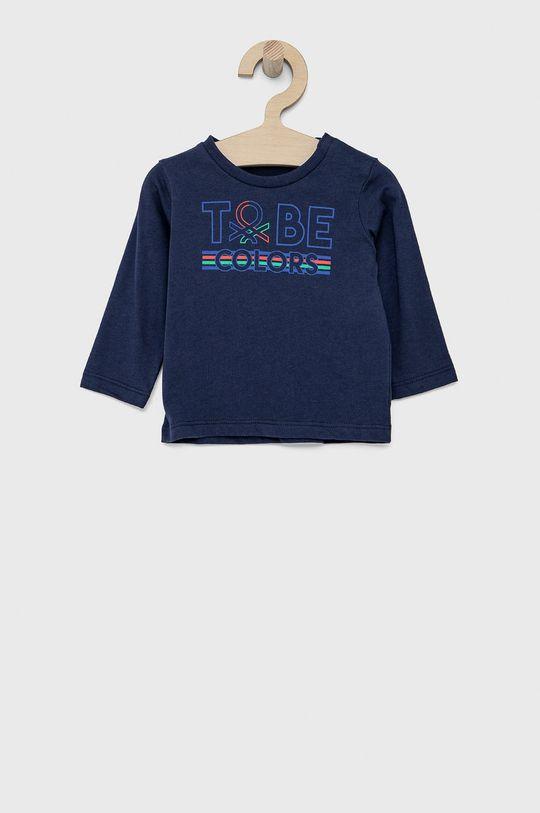 námořnická modř United Colors of Benetton - Dětské tričko s dlouhým rukávem Chlapecký