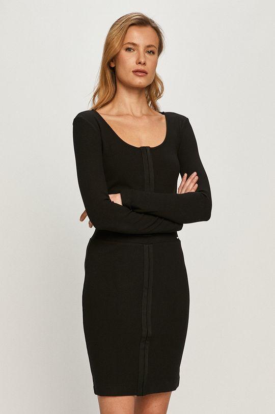 čierna Guess - Tričko s dlhým rukávom Dámsky