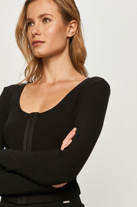 čierna Guess - Tričko s dlhým rukávom