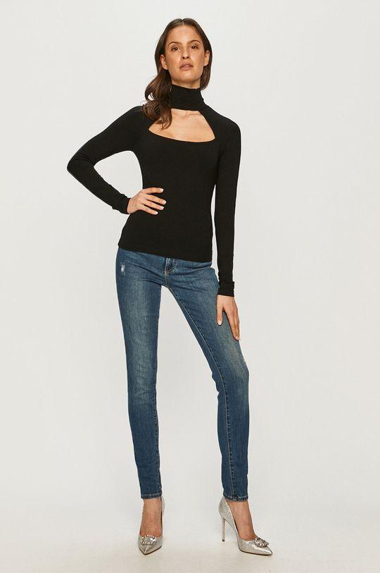 Guess - Tričko s dlhým rukávom čierna