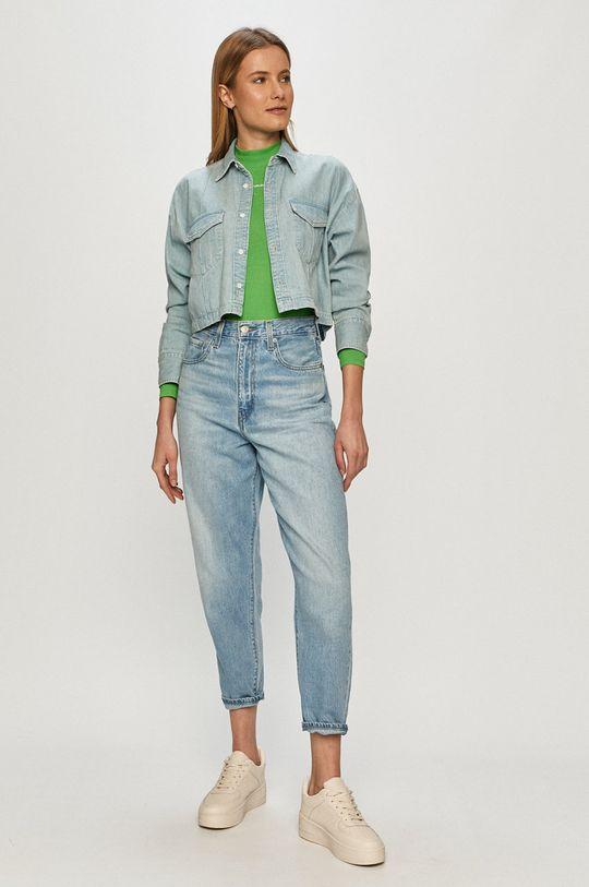Calvin Klein Jeans - Tričko s dlhým rukávom zelená
