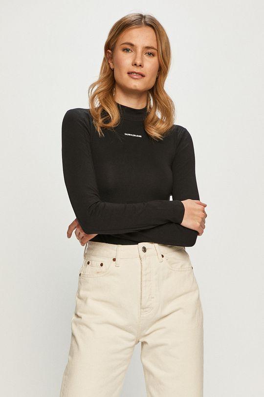 czarny Calvin Klein Jeans - Longsleeve Damski