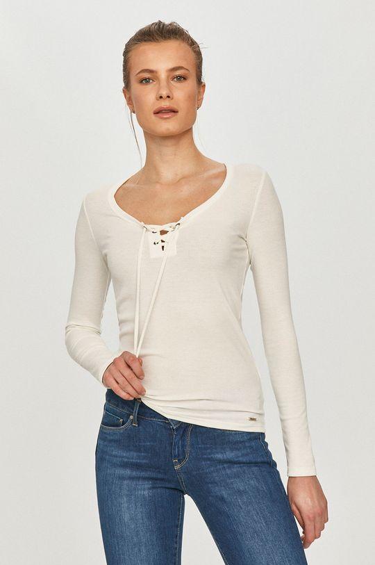 biela Pepe Jeans - Tričko s dlhým rukávom Alexa Dámsky