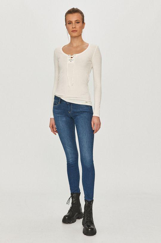 Pepe Jeans - Tričko s dlhým rukávom Alexa biela