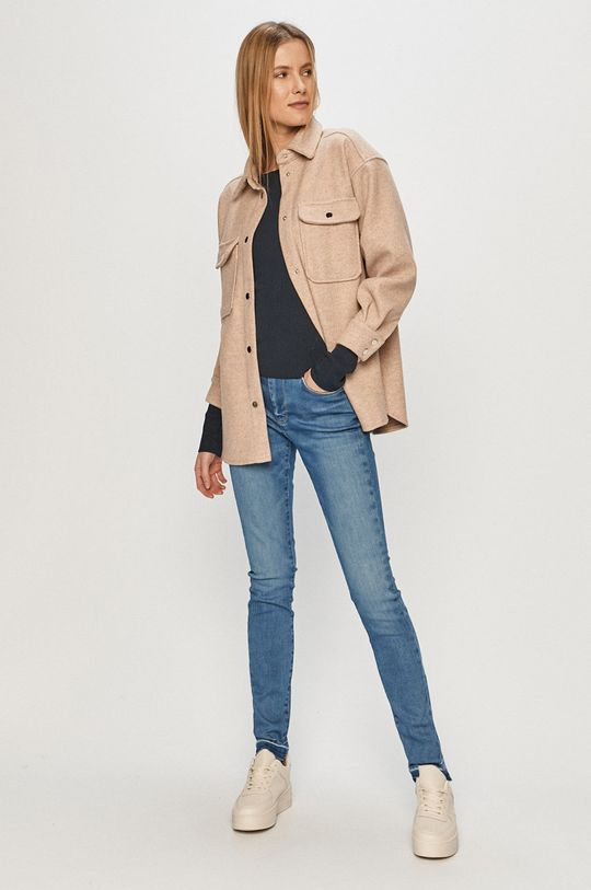 Pepe Jeans - Sweter Claire granatowy