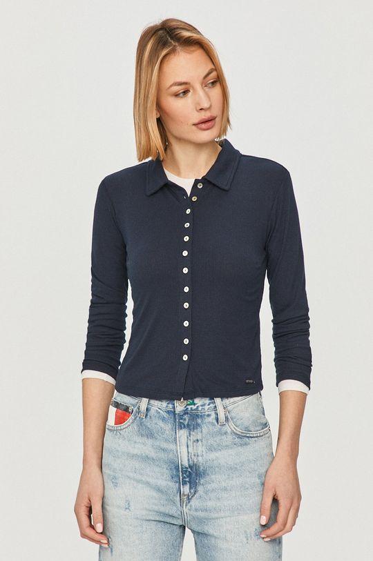 Pepe Jeans - Tričko s dlhým rukávom Agnes tmavomodrá