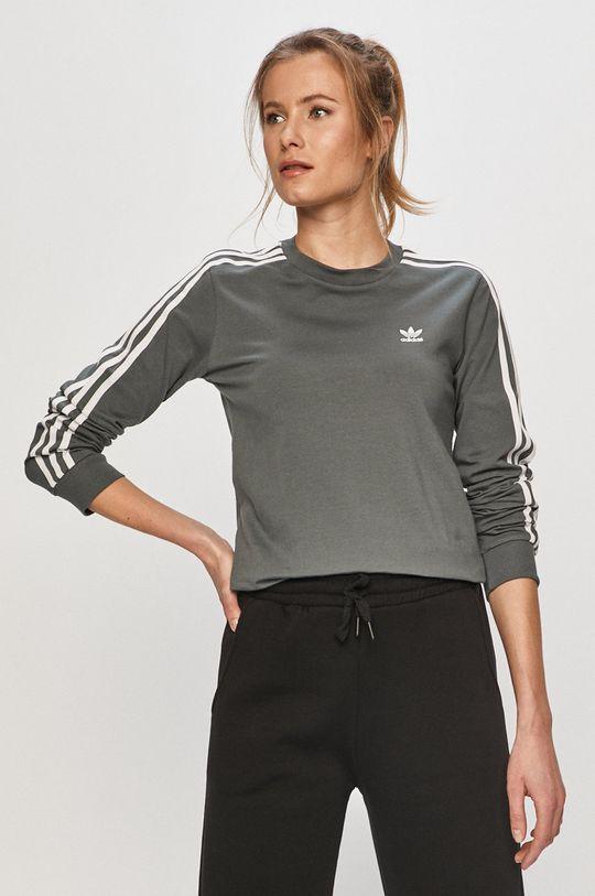 adidas Originals - Tričko s dlhým rukávom oceľová modrá