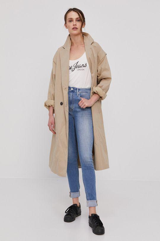 Pepe Jeans - Tričko s dlouhým rukávem Sue bílá