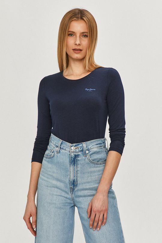 tmavomodrá Pepe Jeans - Tričko s dlhým rukávom Amberta Dámsky