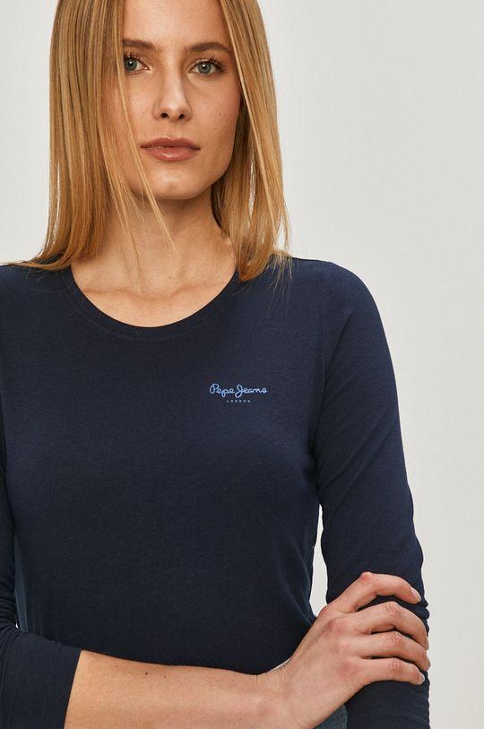 tmavomodrá Pepe Jeans - Tričko s dlhým rukávom Amberta