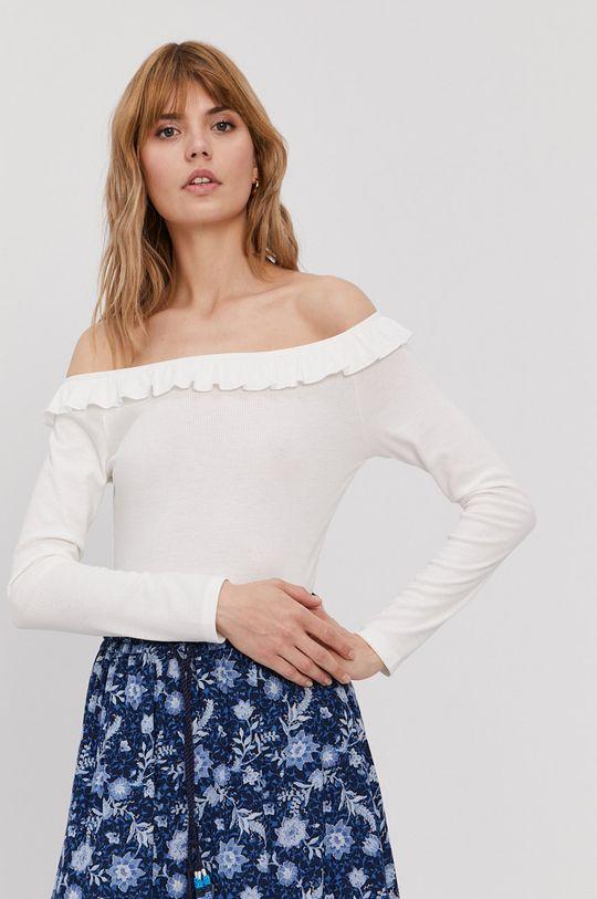 bílá Pepe Jeans - Tričko s dlouhým rukávem Colette