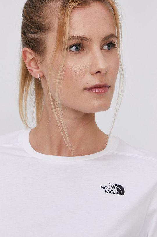 bílá The North Face - Tričko s dlouhým rukávem