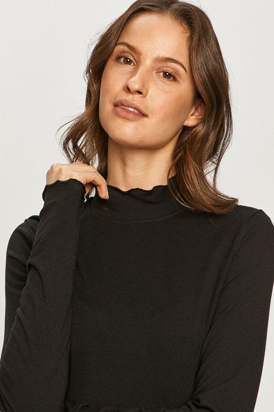 čierna Wrangler - Tričko s dlhým rukávom