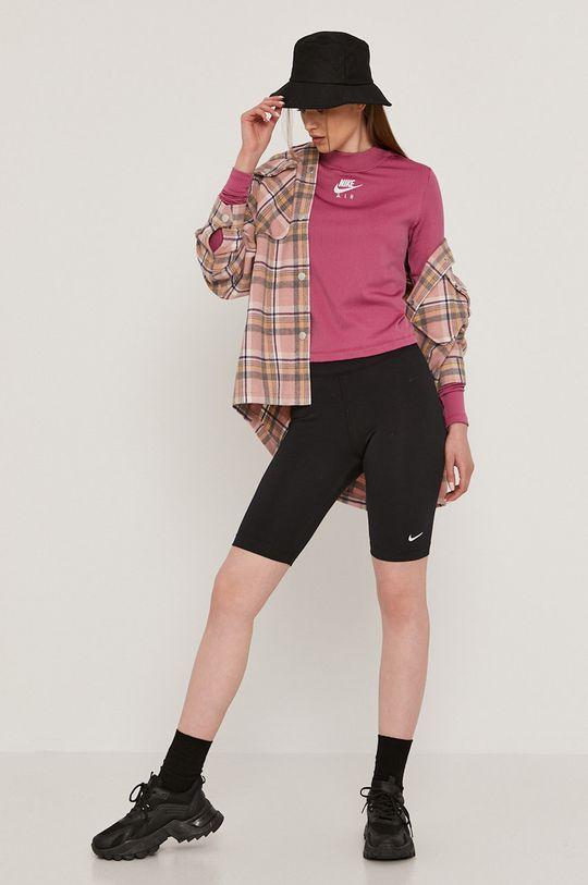 Nike Sportswear - Tričko s dlouhým rukávem růžová