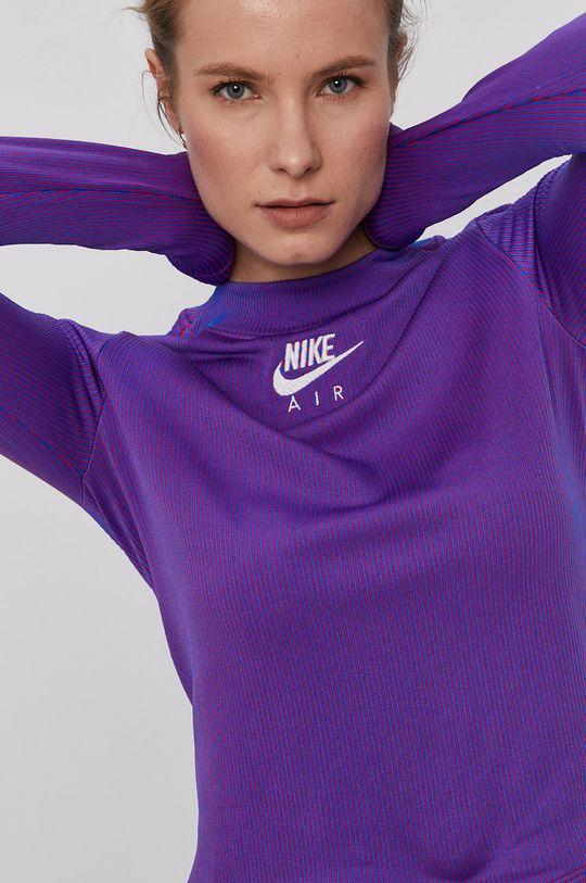 fialová Nike Sportswear - Tričko s dlouhým rukávem