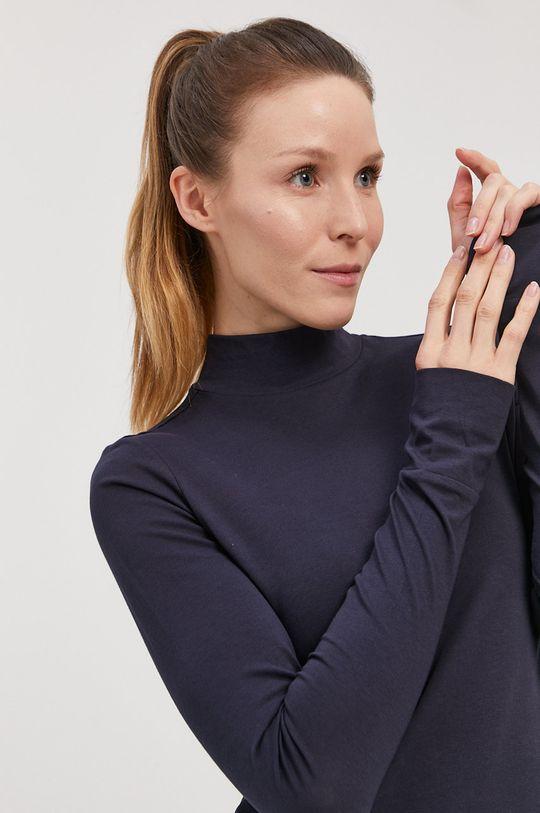 4F - Tričko s dlhým rukávom tmavomodrá