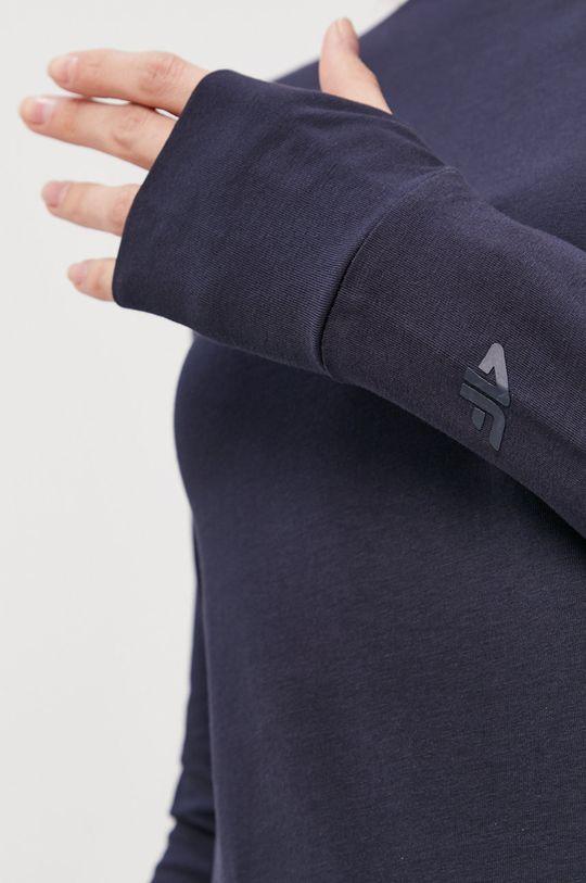 tmavomodrá 4F - Tričko s dlhým rukávom