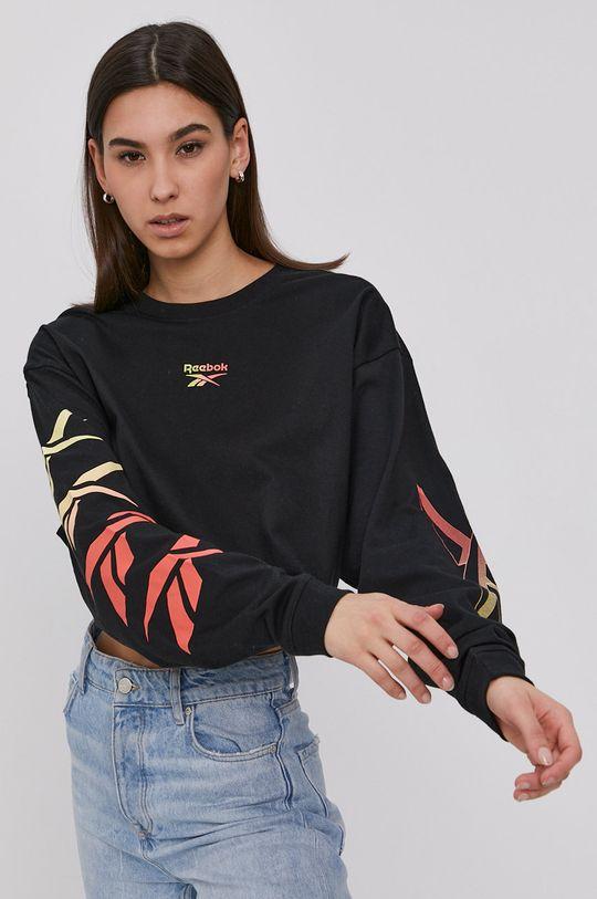 čierna Reebok Classic - Tričko s dlhým rukávom Dámsky