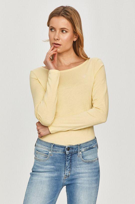 žltá Marc O'Polo - Tričko s dlhým rukávom Dámsky