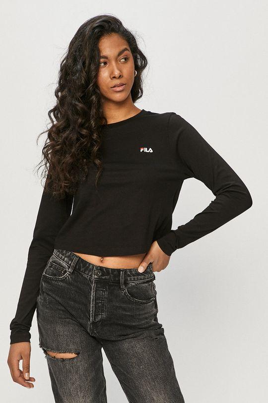 čierna Fila - Tričko s dlhým rukávom Dámsky