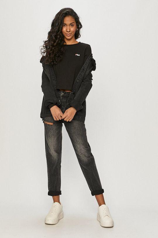 Fila - Tričko s dlhým rukávom čierna