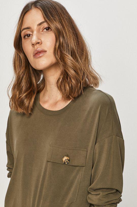olivová Noisy May - Tričko s dlouhým rukávem