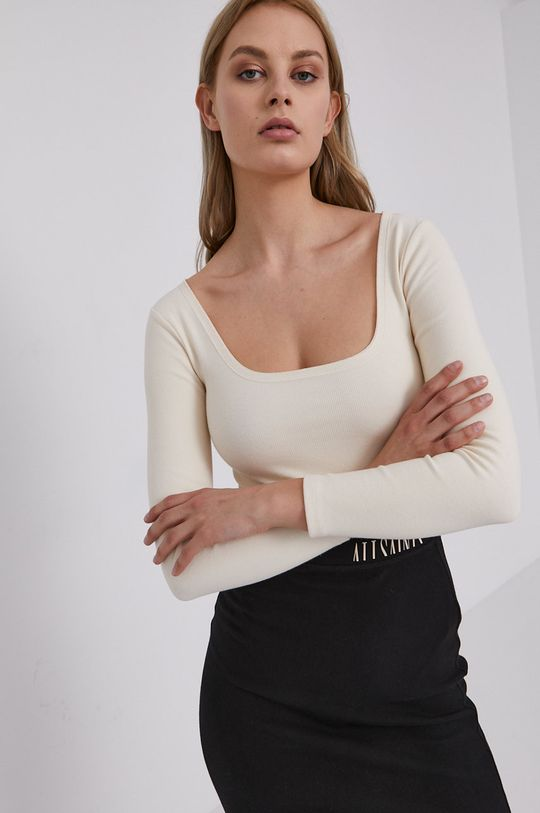 krémová AllSaints - Tričko s dlhým rukávom