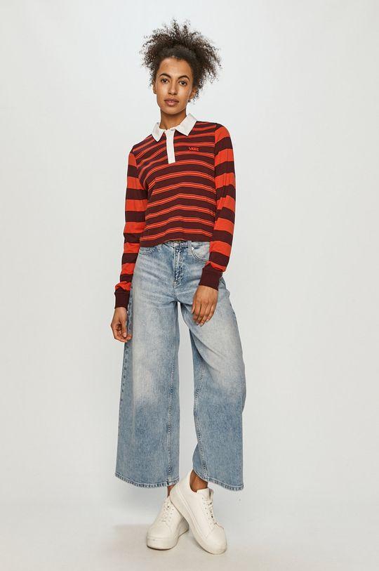 Vans - Tričko s dlhým rukávom červená