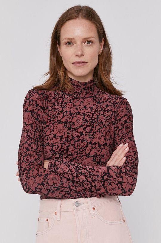 ružovofialová Levi's - Tričko s dlhým rukávom Dámsky