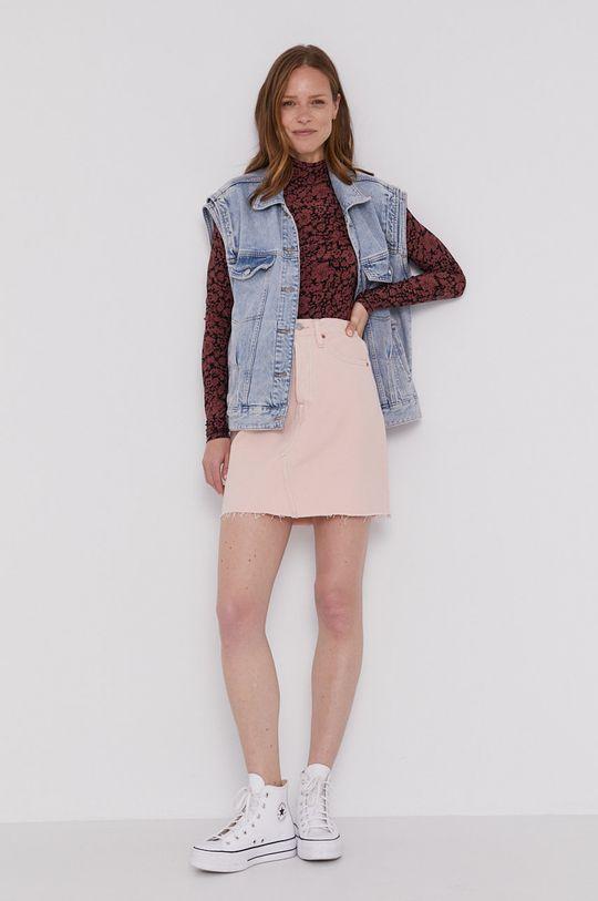 Levi's - Tričko s dlhým rukávom ružovofialová