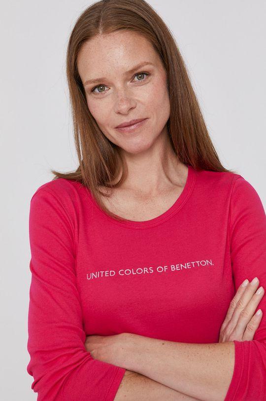 ostry różowy United Colors of Benetton - Longsleeve Damski
