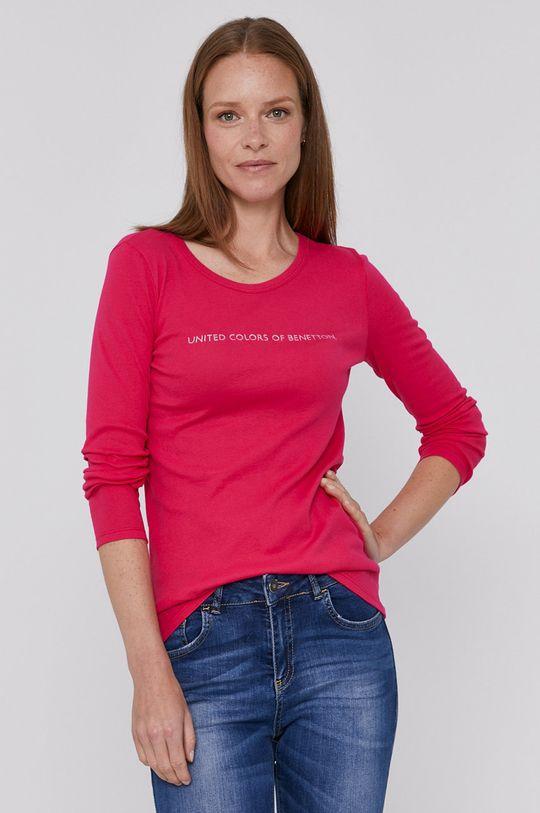 ostry różowy United Colors of Benetton - Longsleeve