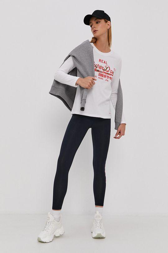 Superdry - Tričko s dlouhým rukávem bílá