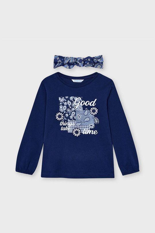 tmavomodrá Mayoral - Detské tričko s dlhým rukávom Dievčenský