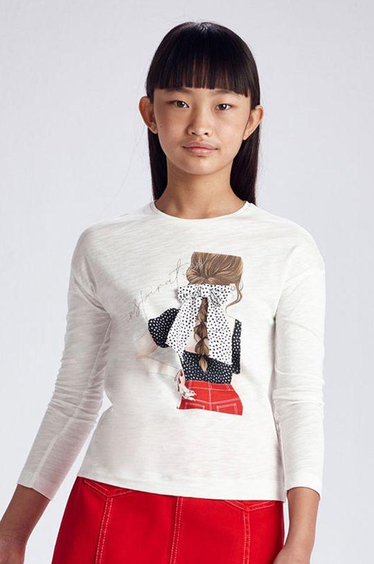biela Mayoral - Detské tričko s dlhým rukávom Dievčenský