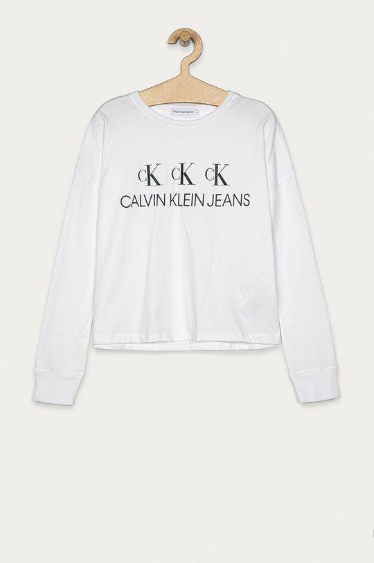 biela Calvin Klein Jeans - Detské tričko s dlhým rukávom 152-176 cm Dievčenský