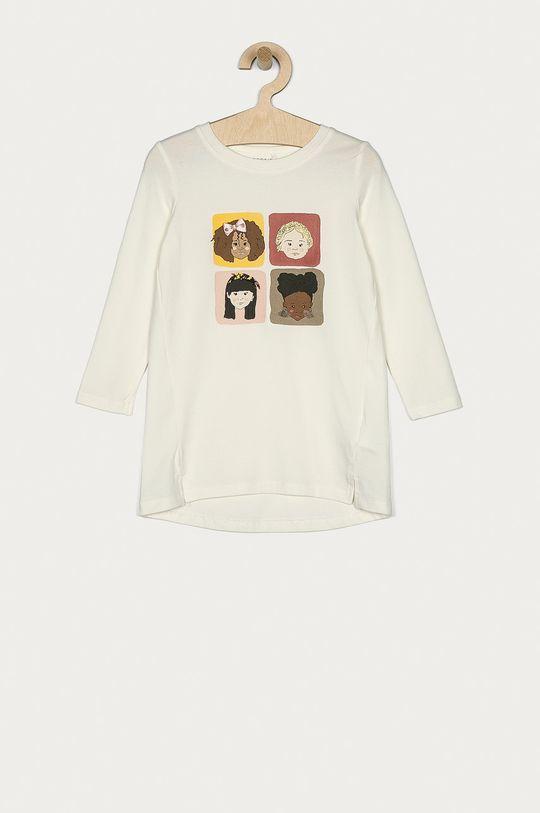 biały Name it - Longsleeve dziecięcy 92-128 cm Dziewczęcy