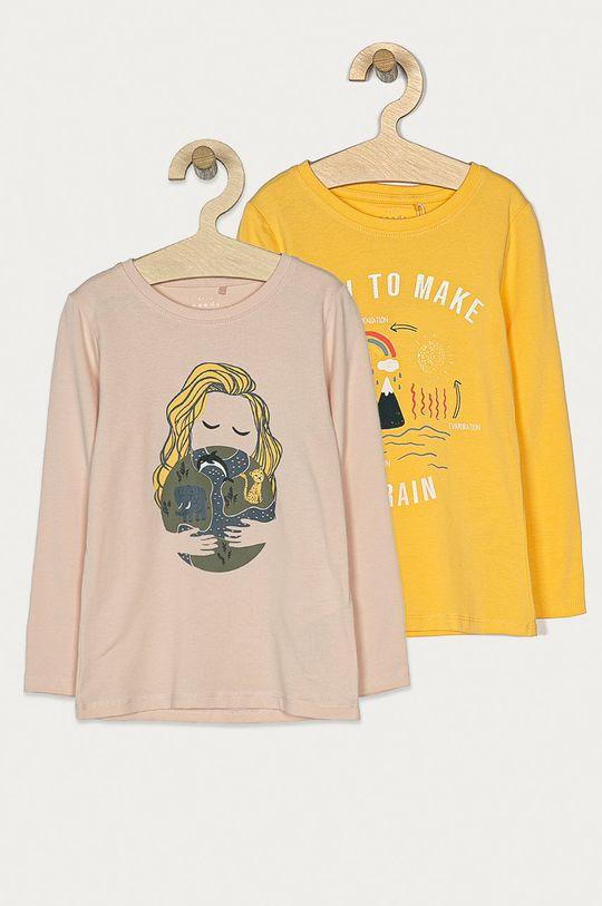 žltá Name it - Detské tričko s dlhým rukávom 92-128 cm (2-pak) Dievčenský