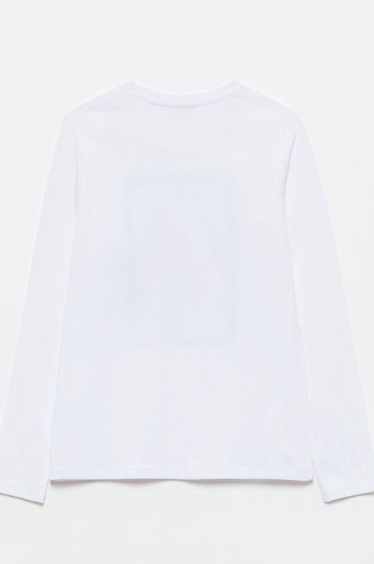 OVS - Longsleeve dziecięcy biały