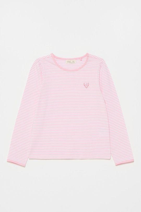 pastelowy różowy OVS - Longsleeve dziecięcy Dziewczęcy