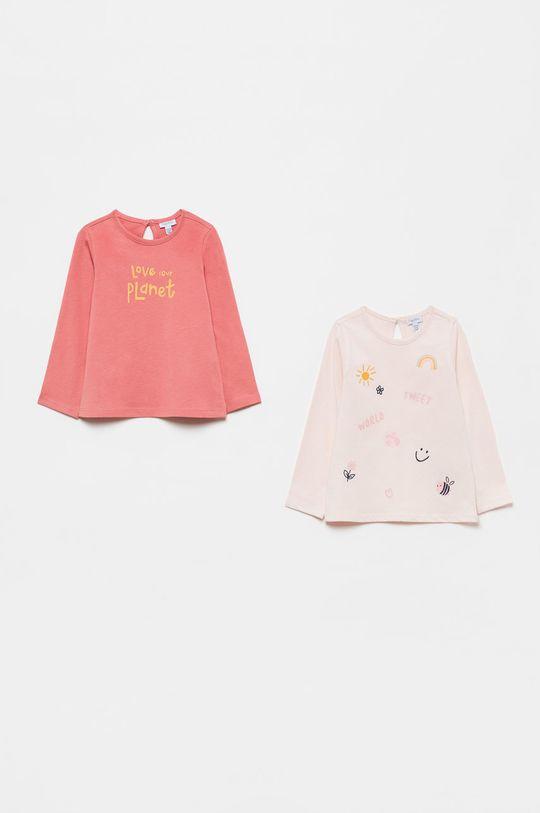 ružová OVS - Detské tričko s dlhým rukávom (2-pak) Dievčenský