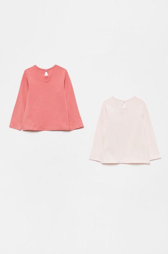 OVS - Detské tričko s dlhým rukávom (2-pak) ružová