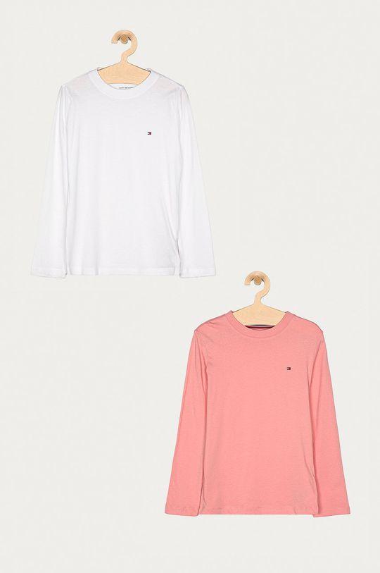 starorůžová Tommy Hilfiger - Dětské tričko s dlouhým rukávem 128-164 cm (2-pack) Dívčí